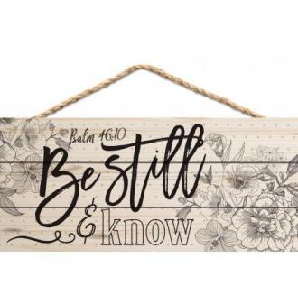 HSA 0131 Veggdekor - Be Still & Know (25 x 11 cm)